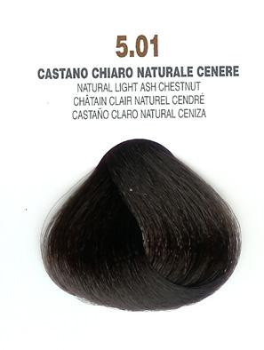 COLORIANNE Hair Colour- 100g tube-Natural Light Ash Chestnut-#5.01