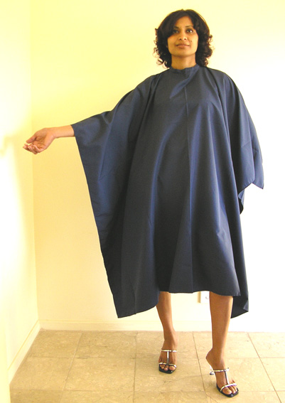 Impresso Microfibre Woven 100% Water Repellent Hairdressing Cape with Studs Navy Blue
