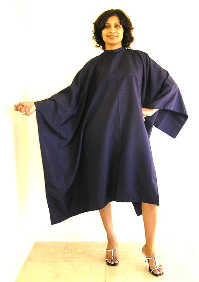 Impresso- Micro-fibre Woven 100% Water Repellent Hairdressing Cape with Studs-Violet