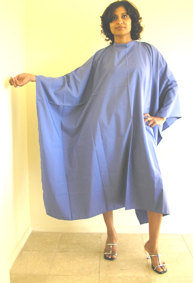 Impresso- Micro-fibre Woven 100% Water Repellent Hairdressing Cape with Studs-Soft Blue