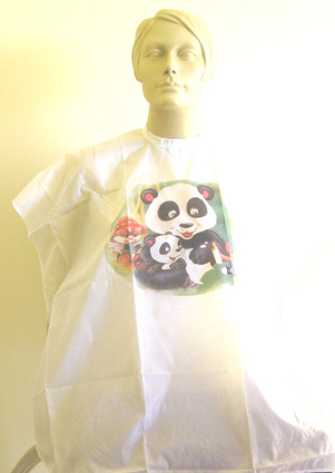 "Impresso Kids Hairdressing Cape-""Panda Bears"""