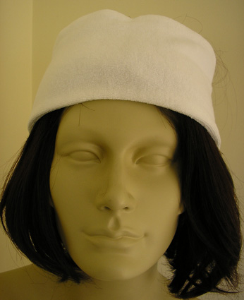 Headband-White (Terry Towel Material) with Velcro Fastening