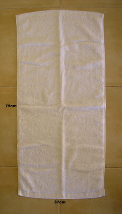 Spa Turban Terry Towel-100% knitted Cotton-White-Pack of 3