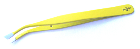 UFO Professional Tools-Curved/Angulated Tweezer-Yellow