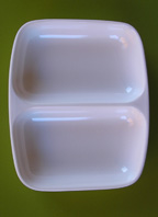 2 Compartment Mixing Bowl made of Durable Plastic
