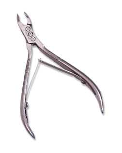 UFO Two Arm Double Spring  5mm Jaw Cuticle Nipper in High Grade Stainless Steel