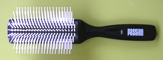 Passion 9 Row Denman Style Brush-Black