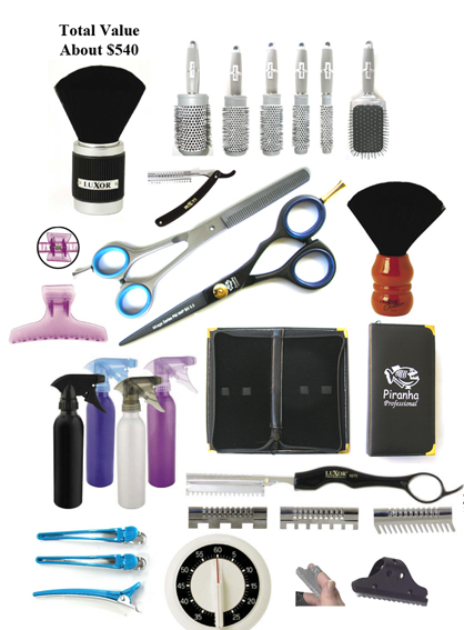 Hairdressing Tool Kit-an ideal start to a hairdessing Career-Save! Total Value $540