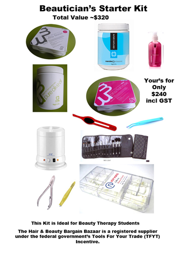 Beautician's Starter Kit as shown-ideal for Beauty Therapy Students
