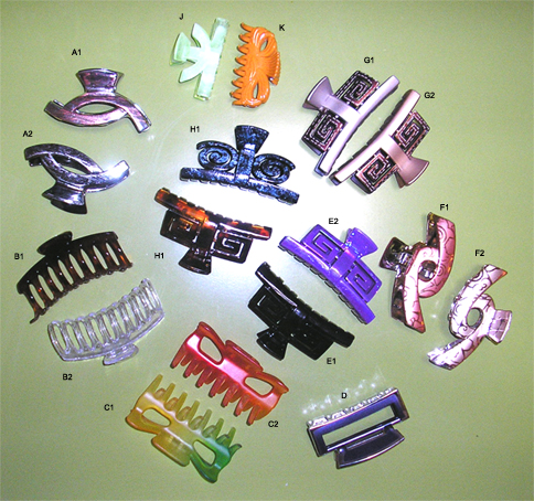Fashion Clips-Assorted (Please specify code)