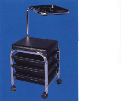 BD-23 Manicure Trolley with Seat (3 drawer compartments and 1 table)