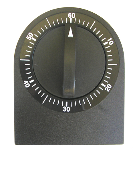 Salon Timer 60 Minute Plastic Dial Timer in Black