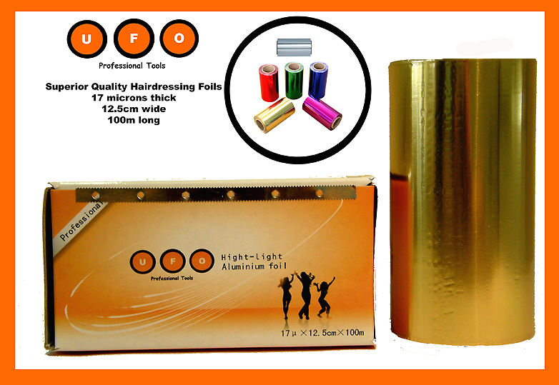Hairdressing Foils-UFO-100m x 12.5cm x 17microns-high quality-Gold-Just $8.95 incl GST