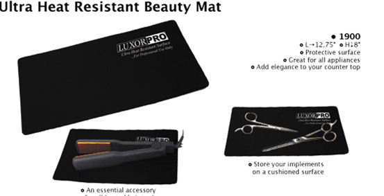 Luxor Pro Ultra Heat Resistant Beauty Mat