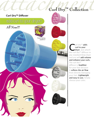 Curl Dry Air Diffuser in Assorted Colours