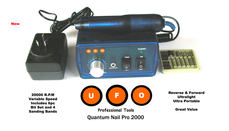 UFO Quantum Nail Pro 2000 Electric Nail Drill with Variable Speeds up to Max Speed of 20000 RPM!