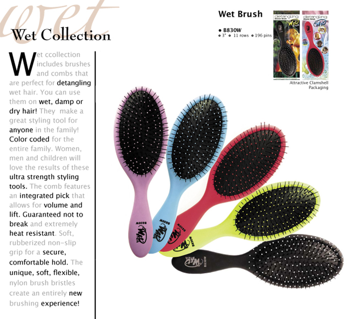 The Wet Brush Detangling Shower Brush - Blue