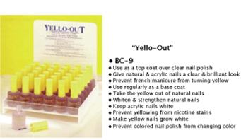 Yellow Out-Prevents yellow staining of nails!!