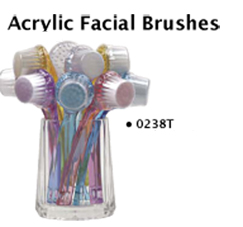 Acrylic Facial Brushes in assorted colours