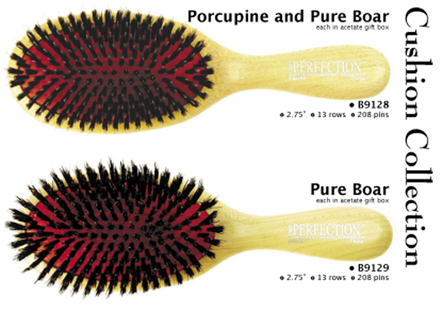 B9128-Porcupine and Pure Boar Cushion Brush (Luxor)