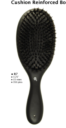 "R7-"" Results""-Cushion Reinforced Pure Boar Bristle Cushion Brush"