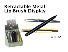 0232-Retractable Metal Lip Brush-Priced individually