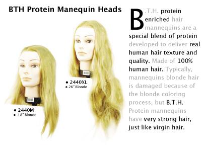 """2440M-BTH Protein Mannequin-18"""" Blonde"""