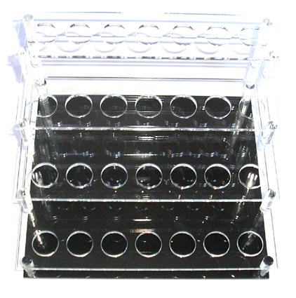 Acrylic Cosmetic/Brush Display Stand #2-7 holes per step x 4 steps (28 holes)