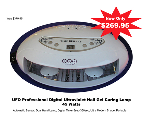 UFO Professional Digital Ultraviolet Gel Curing Lamp-45 Watts!!
