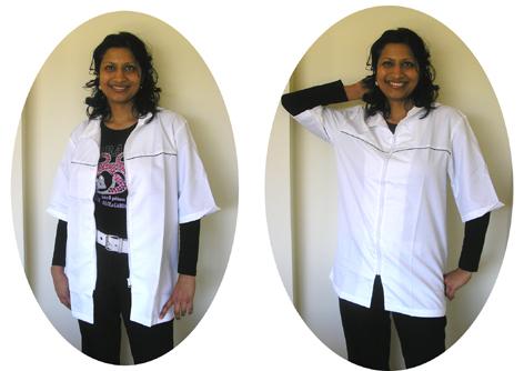 M020-Beauty Uniform in White-Size# Medium