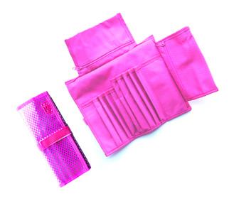 Make Up Case as Shown-Folding/Velcro Strap-Hot Pink