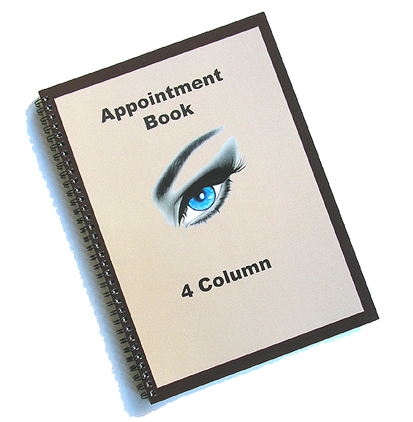 Hair & Beauty Appointment Book 4 Column 50 Leafs/100pages
