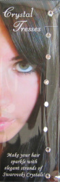 Crystal Tresses-Genuine Swarovski Crystals that attach on the Hair-Clear Diamonds