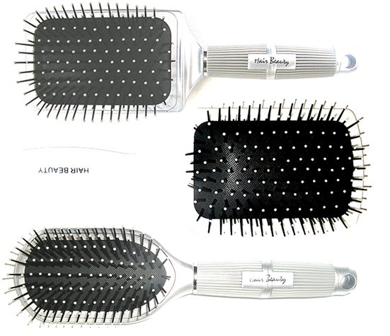 Hair & Beauty Paddle Brush Collection-3 pc set