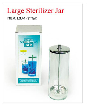 "LSJ-1- (9"" tall) UFO Sterilizer Jar-1000cc"