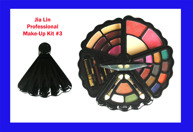 Jia Lin Professional Make-Up Kit 3-34 Pcs in Shell Shaped Foldable Compact Hard Case