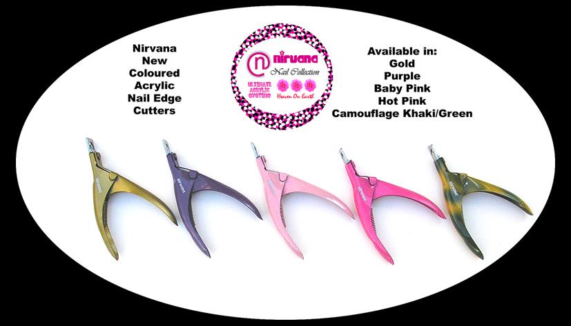 "Nirvana Premium ""Funky"" Acrylic Nail Edge Cutter-Hot Pink"