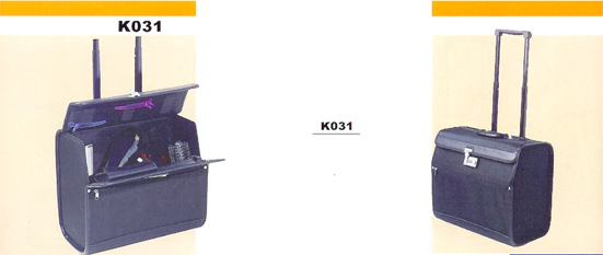 Beauty Case in Black-with wheels and handle-K031