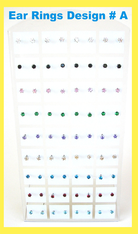 Ear Rings-Small-Sold in Pairs (Price is per Pair)-Violet