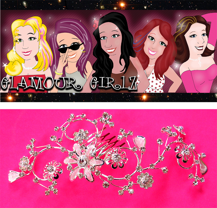 Glamour Girlz Hair Aceessories-UPJ46