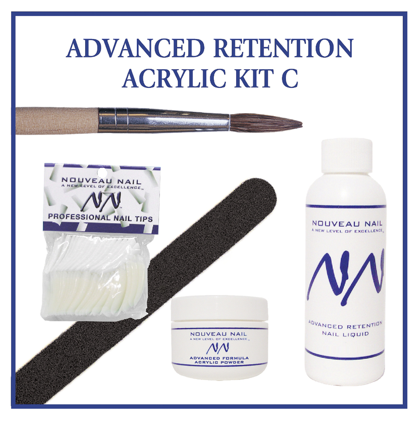 Nouveau Nail Kit C - Advanced Retention Acrylic