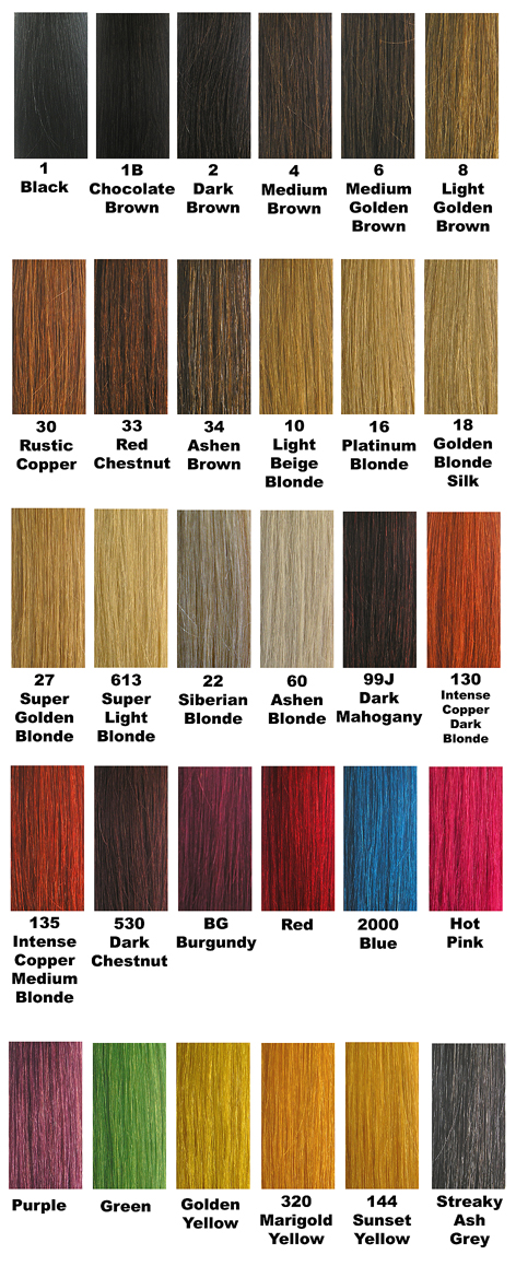 "Cleopatra 100% Human Hair (Remy) Extensions-Individual Insert (Single Clip)-Length=20"" (50.8cm), Width=1.5"" (3.8cm)-Comes in 30 different Shades!-Click here for Colour Choice"