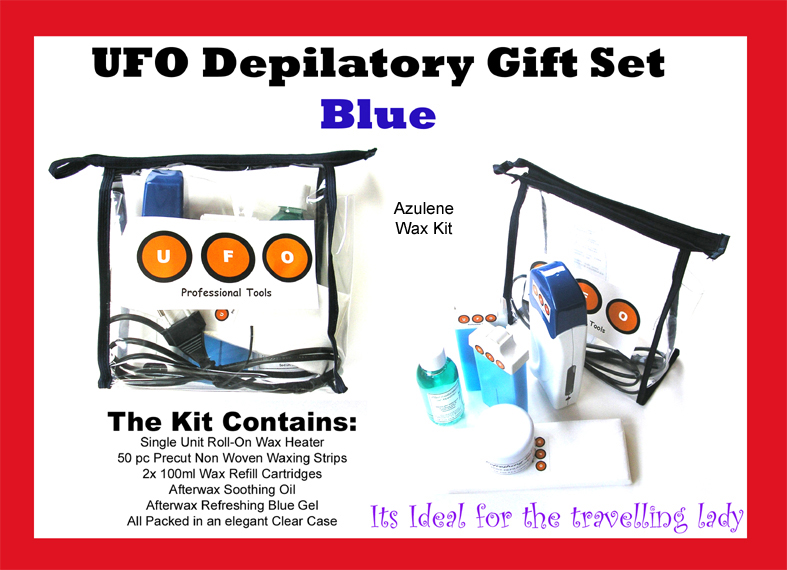 UFO Depilatory Gift Set-Blue