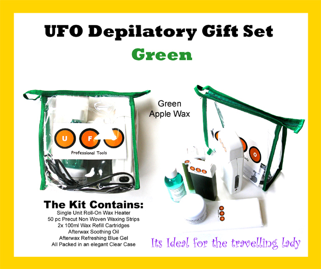 UFO Depilatory Gift Set-Green