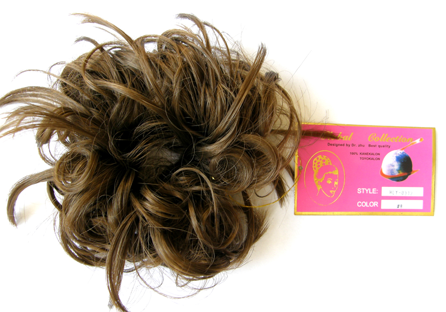 Hair Scrunchie-Style-Light Curls with Flicks-Colour-#8-Light Golden Brown