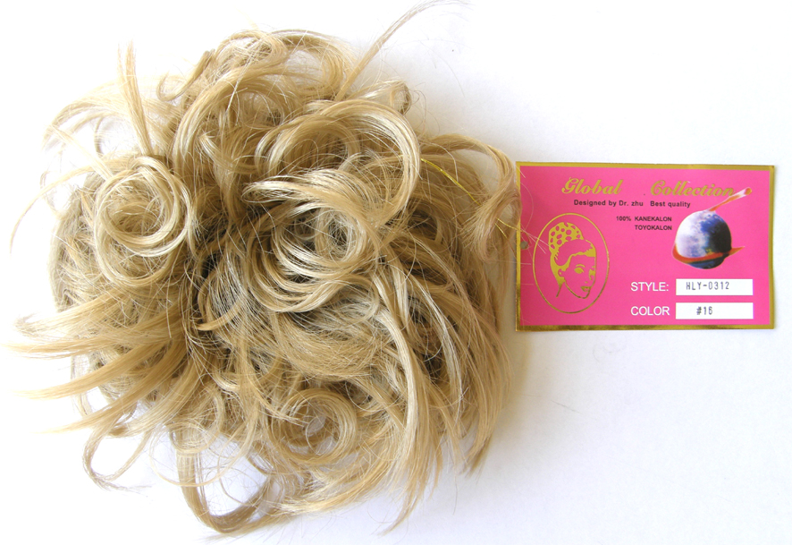 Hair Scrunchie-Style-Light Curls with Flicks-Colour-#16-Platinum Blonde