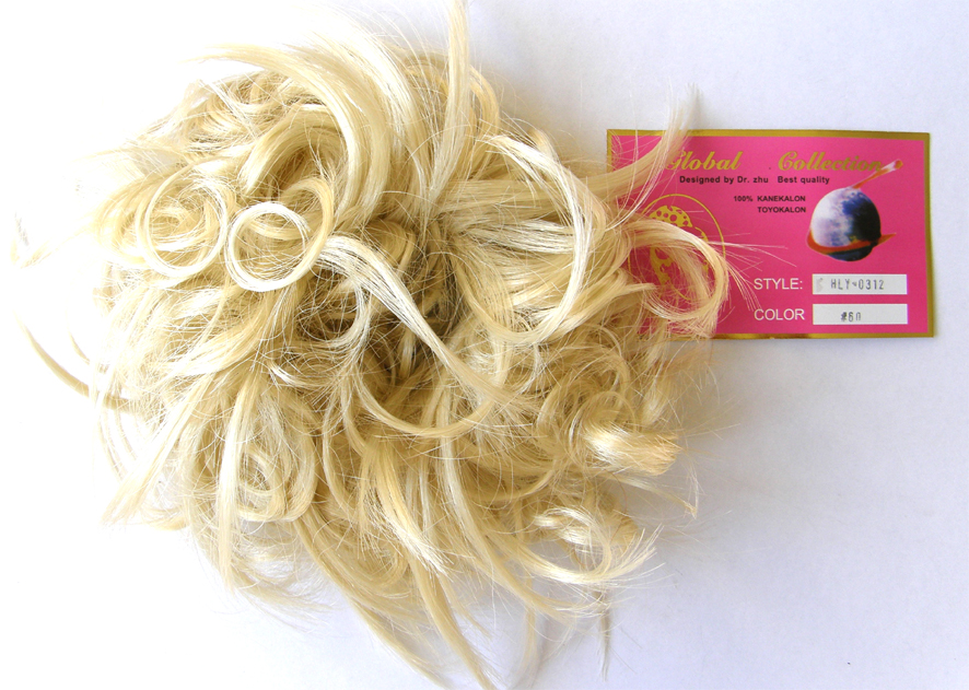 Hair Scrunchie-Style-Light Curls with Flicks-Colour-#60-Ashen Blonde