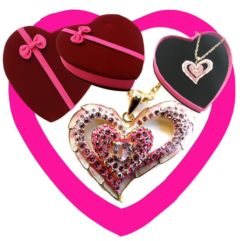 Valentines Premium Boxed Jewellery (Necklace & Pendant) Gift Set-Design A