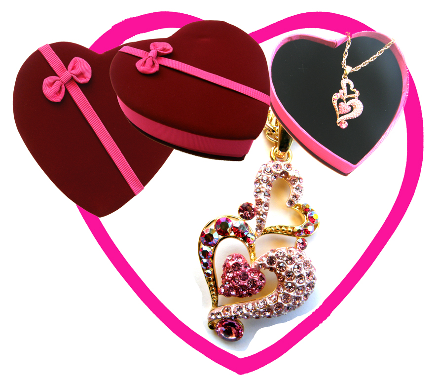 Valentines Premium Boxed Jewellery (Necklace & Pendant) Gift Set-Design B