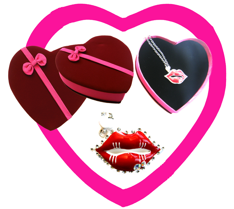 Valentines Premium Boxed Jewellery (Necklace & Pendant) Gift Set-Design C